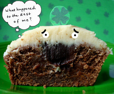The Bomb: Irish Car Bomb Filled Cupcakes a la Smitten Kitchen for Serious Eats